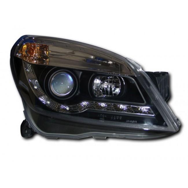 VAUXHALL ASTRA H MK5 BLACK R8 DRL STYLE HEADLIGHTS NEW