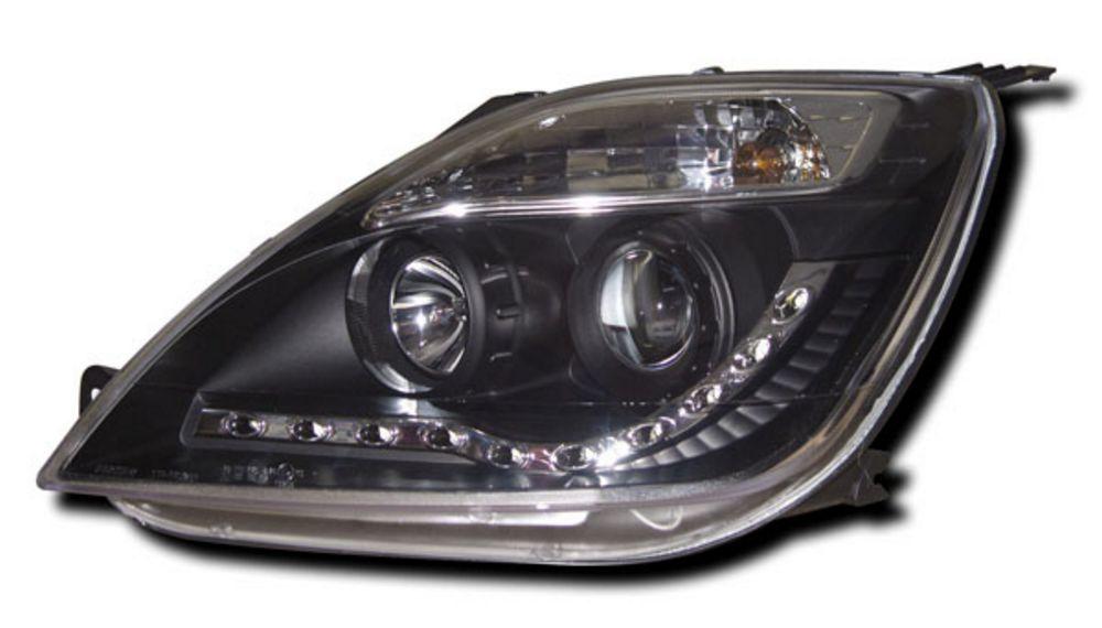 Ford Fiesta Mk 6 (02-07) Black R8-style DRL Headlights