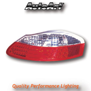 PORSCHE Boxster (-04) Tail Lights - LED Red/Clear