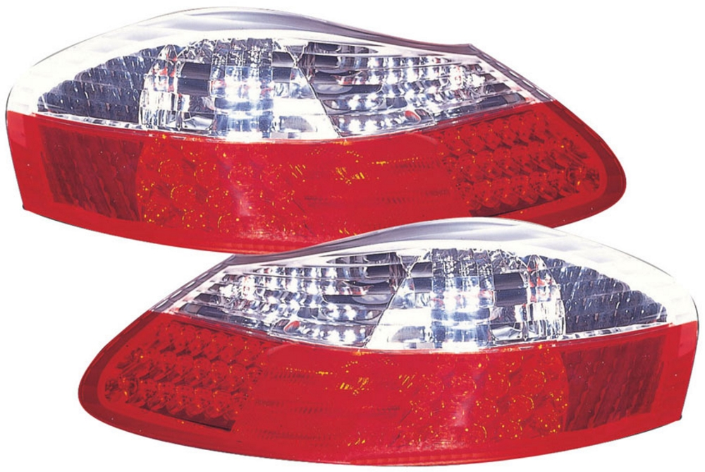 PORSCHE Boxster (-04) Tail Lights - LED Red/Clear [Image 2]