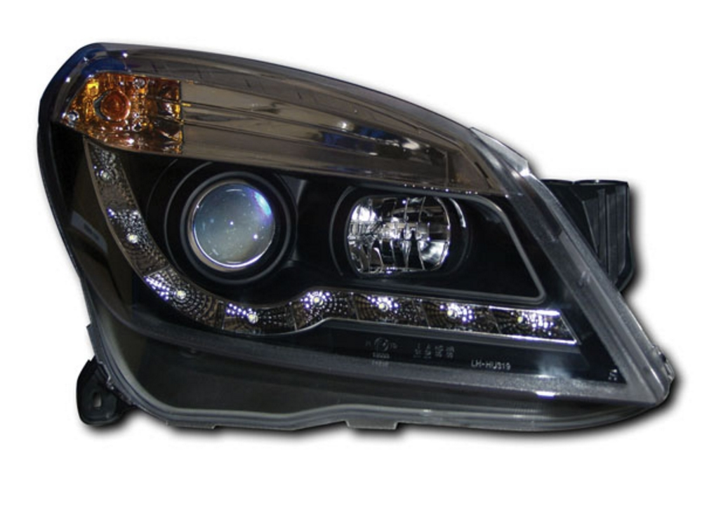 VAUXHALL Astra H/Mk5 Black R8 DRL-look Headlights
