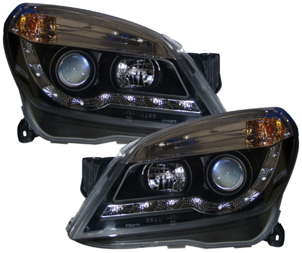 VAUXHALL Astra H/Mk5 Black R8 DRL-look Headlights [Image 2]