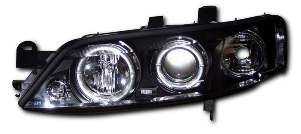 Vauxhall Vectra B (99-02) Black  Angel Eye Headlights