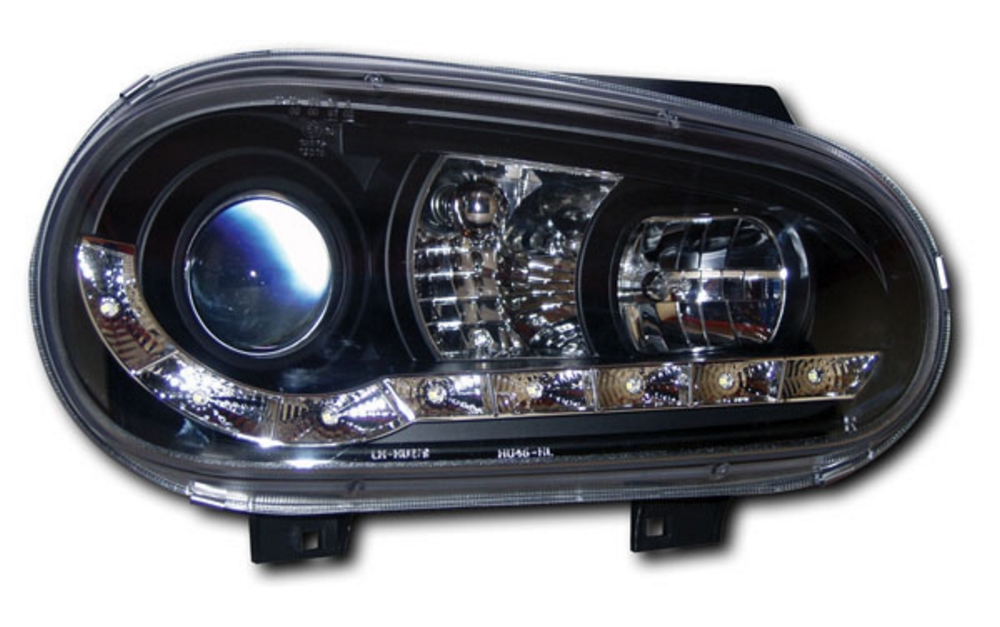 VW Golf 4 (98-04) Black DRL Projector Headlights