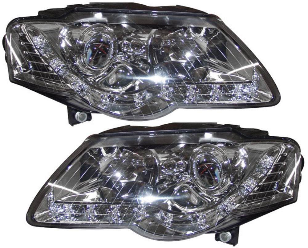 VW Passat 3C (05-10) DRL Headlight - Chrome [Image 2]