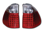 BMW X5 (04-05) RED/CLEAR LED TAILLIGHTS