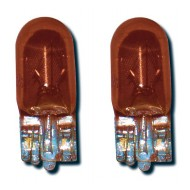 AMBER BULBS (CAPLESS) FOR SIDE REPEATER 12V 5W