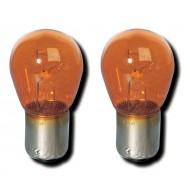 12V 21W AMBER INDICATOR BULBS (180 DEGREE PINS) (STRAIGHT PINS)
