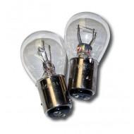 12V 21/5W TWIN FILAMENT CLEAR STOP/TAIL LIGHT BULBS