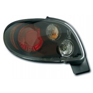 PEUGEOT 206 HATCH (98-05) TAIL LIGHTS - BLACK LEXUS-STYLE