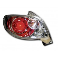 PEUGEOT 206 HATCH (98-05) TAIL LIGHTS - CHROME LEXUS-STYLE