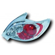PEUGEOT 206 CC (98-05) TAIL LIGHTS - CHROME LEXUS-STYLE