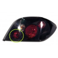 PEUGEOT 307 (01-08) TAIL LIGHTS - BLACK LEXUS-STYLE (RHD ONLY)