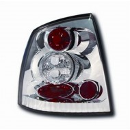 VAUXHALL ASTRA 4 HATCH (98-04) TAIL LIGHTS - CHROME LEXUS-STYLE