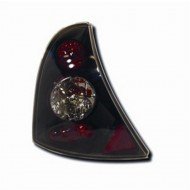 RENAULT CLIO 2 (98-05) CAMPUS (05-08) TAIL LIGHTS - BLACK LEXUS-STYLE