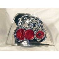 ROVER 200 (95-00) 25 (01-05) MG ZR (01-05) CHROME LEXUS-STYLE TAIL LIGHTS