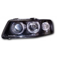 AUDI A3 8L FACELIFT 00-02 BLACK ANGEL EYE HEAD LIGHTS