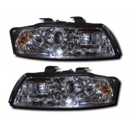 AUDI A4 B6 8E 01-05 CHROME DEVIL EYE R8 DRL-LOOK HEADLIGHTS