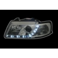 AUDI A3 8L PRE-FACELIFT 96-00 CHROME DEVIL EYE R8 DRL-LOOK HEADLIGHTS