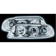 AUDI A4 B5 8D 1995-99 CHROME HALO RING HEADLIGHTS