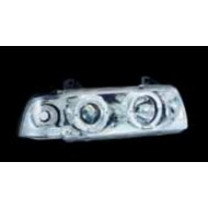 BMW 3-SERIES E36 92-98 COUPE CABRIO HALO HEAD + CORNER LIGHT CHROME