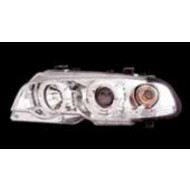 BMW 3-SERIES E46 COUPE 98-01 CHROME ANGEL EYE HEADLIGHTS WITH INDICATORS