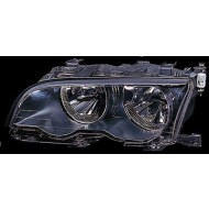 BMW 3-SERIES E46 COUPE CABRIO 01-03 NEARSIDE HEADLIGHTS BLACK WITH MOTOR