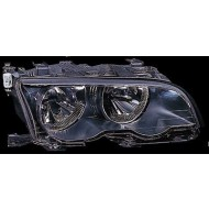 BMW 3-SERIES E46 COUPE CABRIO 01-03 OFFSIDE HEADLIGHTS UNIT BLACK WITH MOTOR