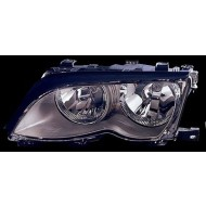 BMW 3-SERIES E46 SALOON 01-03 OFFSIDE HEADLIGHTS UNIT BLACK WITH MOTOR