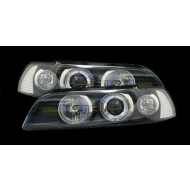 BMW 5-SERIES E39 PRE-FACELIFT BLACK HALO PROJECTOR HEADLIGHTS