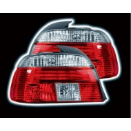 BMW 5-SERIES E39 1995-2000 RED & CLEAR TAIL LIGHTS