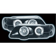 BMW X5 BLACK 98-03 BLACK HALO RING HEADLIGHTS