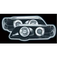 BMW X5 BLACK 98-03 BLACK HALO RING HEADLIGHTS