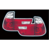 BMW X5 99-06 CRYSTAL RED & CLEAR DESIGN TAIL LIGHTS