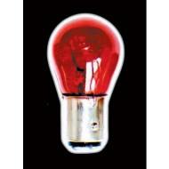 TRUCOLOUR 12V 21W SINGLE FILAMENT RED BRAKE/FOG LIGHT BULBS