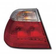 BMW 3-SERIES E46 SALOON 98-01 TAIL LIGHTS - RED/CLEAR