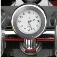 ANALOGUE MOTORCYCLE CLOCK - SILVER