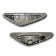BMW 3-SERIES E46 COUPE 03-06, CABRIO 03-06 CLEAR LED SIDE REPEATERS