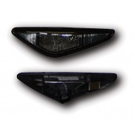 BMW 3-SERIES E46 COUPE 03-06, CABRIO 03-06 BLACK HOUSING/SMOKE LENS LED SIDE REPEATERS