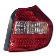 BMW 1-SERIES E87 5-DOOR HATCH (04-07) LED TAIL LIGHTS - RED/CLEAR