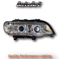 BMW X5 (98-03) HEADLIGHTS - CHROME ANGEL EYES (RHD ONLY)