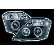 CITROEN C2 (02-09) BLACK LED HALO HEADLIGHTS