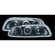 FIAT PUNTO MK1 (93-99) BLACK LED HALO HEADLIGHTS