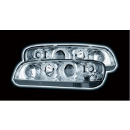 FIAT PUNTO MK2 (99-02) HEADLIGHTS - CHROME ANGEL EYES (RHD ONLY)