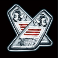 FIAT GRANDE PUNTO CHROME DESIGN LED TAIL LIGHTS