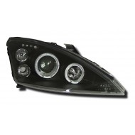 FORD FOCUS MK1 (01-04) HEADLIGHTS - BLACK ANGEL EYES (RHD ONLY)