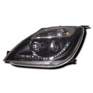 FORD FIESTA 6 (02-07) BLACK DRL HEADLIGHTS