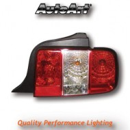 FORD MUSTANG (05-) TAIL LIGHTS - CRYSTAL RED/CLEAR