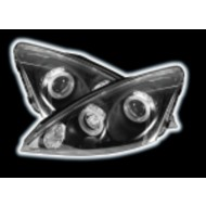FORD FOCUS MK1 (01-04) BLACK PROJECTOR DESIGN HALO HEADLIGHTS