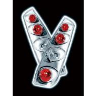 FORD FIESTA MK6 03/2002- 5DR CHROME LEXUS TAIL LIGHTS